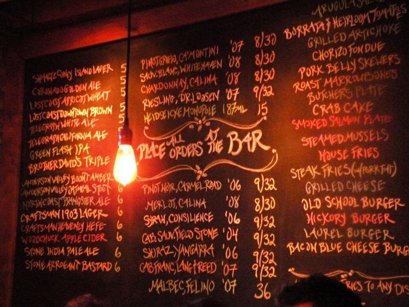 Laurel tavern board
