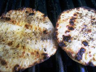 Grilled jicama