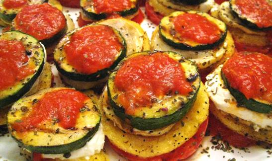 Polenta-Veggie Stacks Recipes — Dishmaps